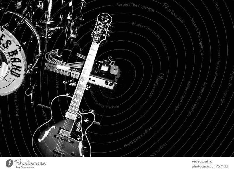 Black Blues Musik Schnur Trommel
