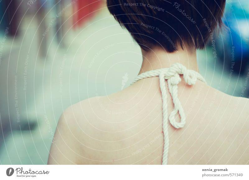 Schulterblätter Lifestyle Stil schön Körper harmonisch Mensch feminin androgyn Junge Frau Jugendliche Erwachsene Rücken 1 13-18 Jahre Kind 18-30 Jahre Knoten