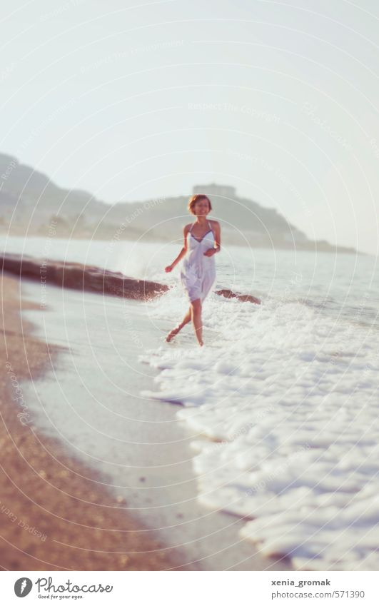 Spaziergang am Strand Leben Freizeit & Hobby Ferien & Urlaub & Reisen Tourismus Ausflug Abenteuer Ferne Freiheit Sommer Sommerurlaub Sonne Sonnenbad Meer Insel