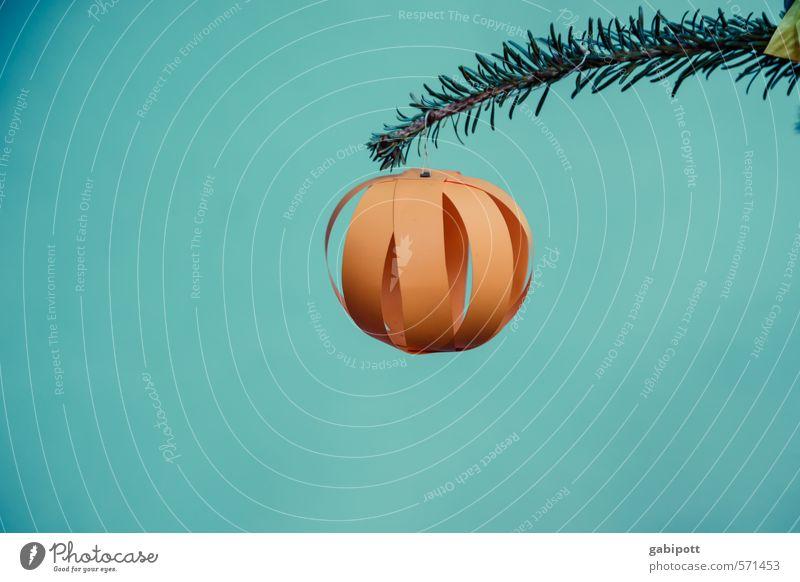 Baumschmuck modern Winter Feste & Feiern Weihnachten & Advent Jahrmarkt außergewöhnlich Fröhlichkeit positiv blau gelb grün orange einzigartig Kultur Tradition