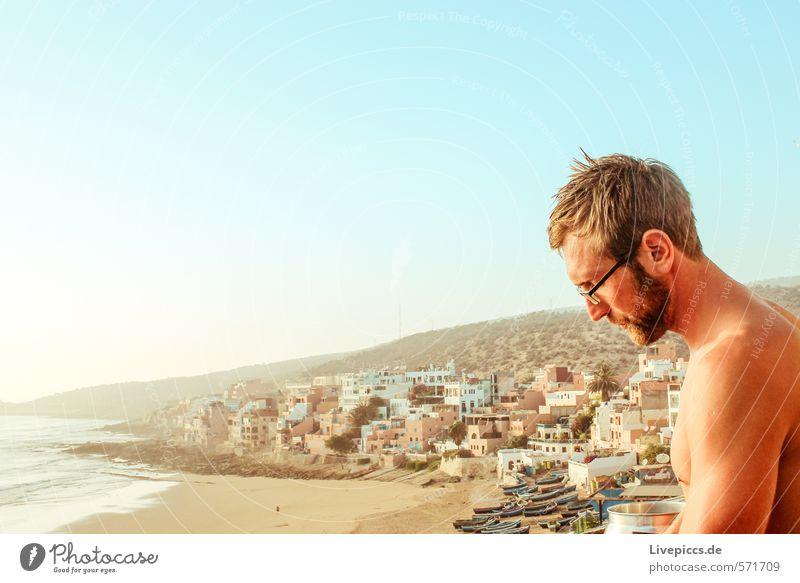 ...kochen mit Ausblick Ferien & Urlaub & Reisen Tourismus Freiheit Sonne Strand Meer Insel Wellen Mensch maskulin Mann Erwachsene 1 30-45 Jahre Umwelt Natur