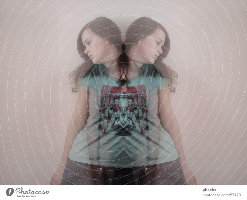 shadow III Frau Mensch Jeanshose T-Shirt Geister u. Gespenster Doppelbelichtung Verlauf