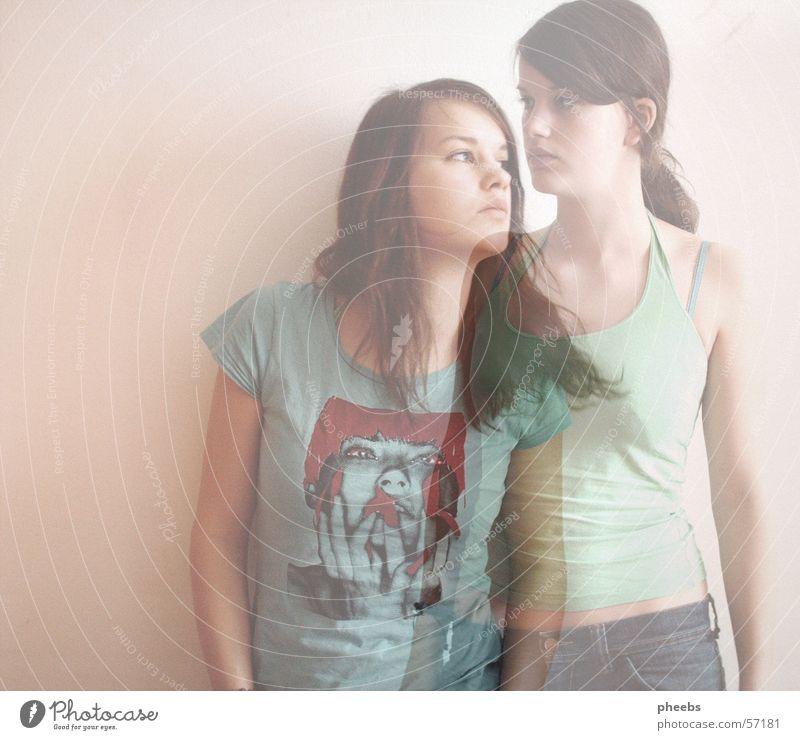 shadow V Frau Mensch Jeanshose T-Shirt Schatten Geister u. Gespenster Doppelbelichtung Verlauf