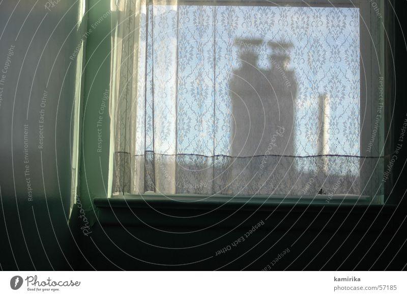 vorhang Fenster Vorhang Dach Raum Stoff Haus window curtain schronstein roof Sonne Schatten