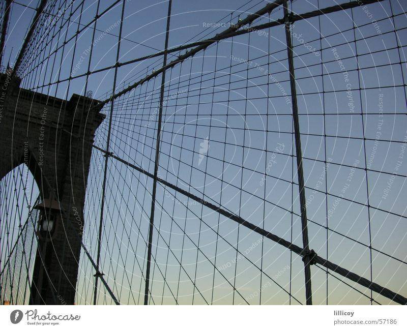 Brooklyn Bridge New York City Sonnenuntergang Brücke