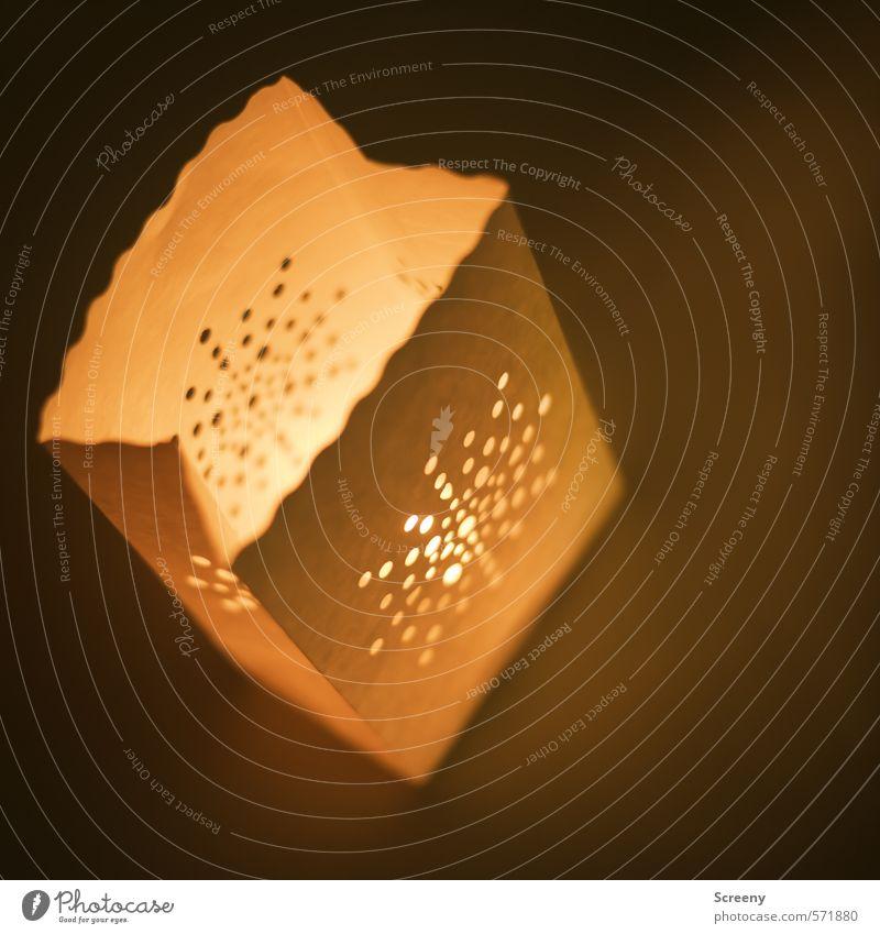 Paperxmas #2 Weihnachten & Advent ruhig gelb Wärme Gefühle braun Stimmung Zufriedenheit Dekoration & Verzierung Warmherzigkeit Stern (Symbol) Papier Zeichen