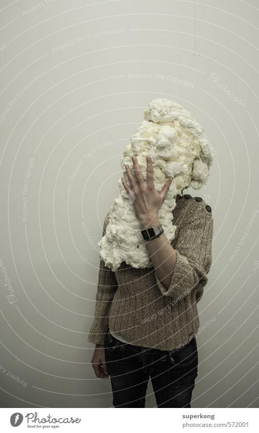 Dekonstrukt Mensch schön Hand Einsamkeit Gesicht Umwelt feminin Spielen Kunst Körper Haut Finger Schutz Gemälde Sehnsucht Schmerz