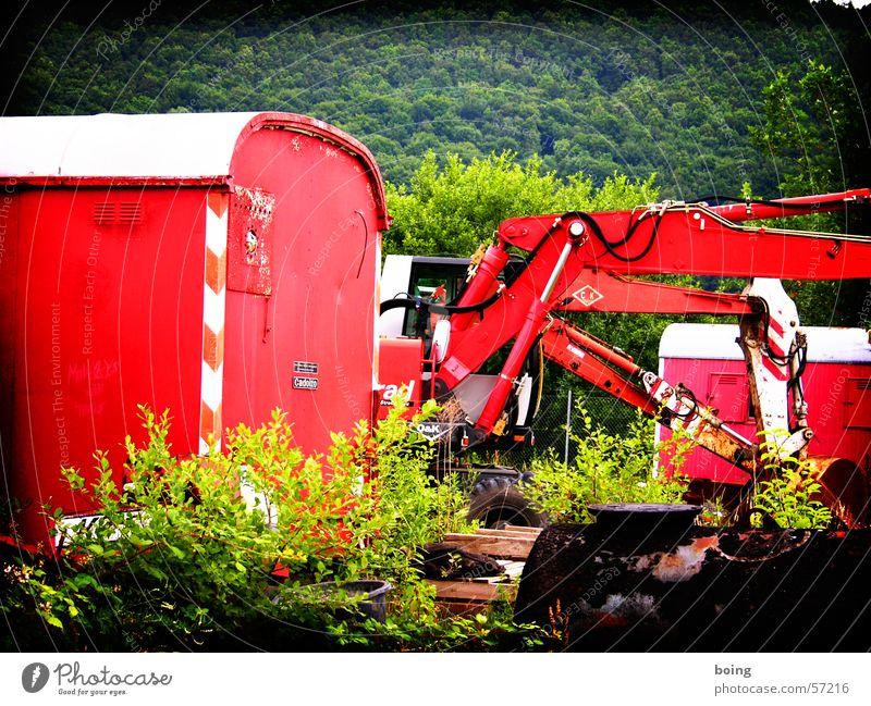 Baubranche in Konjunkturkrise Einsamkeit Baustelle Industrie verfallen Handwerk Wirtschaft Kran Wohnhaus Baumaschine stagnierend Architekt Bagger Einfamilienhaus Konjunktur Bauherr