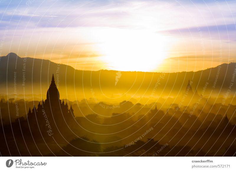 Bagan Natur Sommer Sonne Erholung ruhig Wolken Freude Ferne Wald Berge u. Gebirge Freiheit außergewöhnlich Tourismus authentisch Schönes Wetter ästhetisch