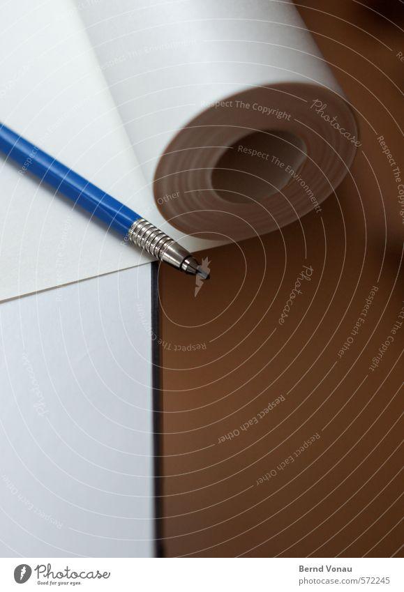 Punktsieg | 40:1 Schreibwaren Papier Schreibstift Sauberkeit Rolle Metall zeichnen malen Brainstorming Dachfenster Grünpflanze rund blau weiß grün grau schwarz