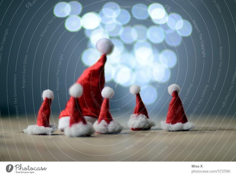 Versammlung Dekoration & Verzierung Weihnachten & Advent Familie & Verwandtschaft Kopf Menschengruppe Kindergruppe Mütze glänzend leuchten klein lustig niedlich