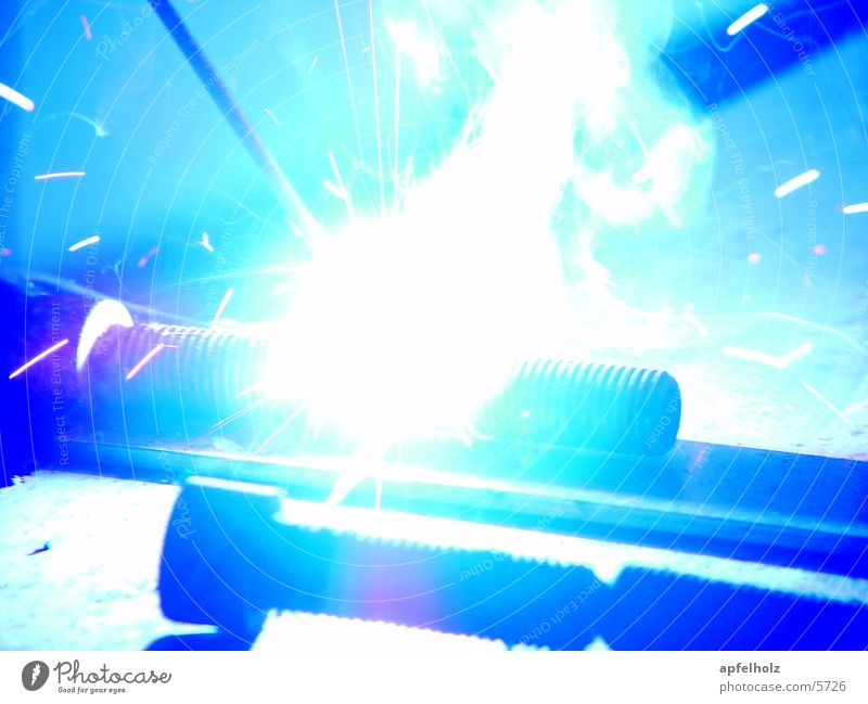 schweißen in blau Arbeit & Erwerbstätigkeit Metall Technik & Technologie Elektrisches Gerät