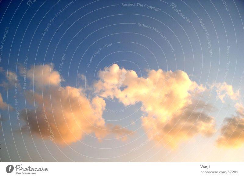 himmlisch Himmel blau Wolken Stimmung Luftverkehr Romantik weich Frieden Vertrauen