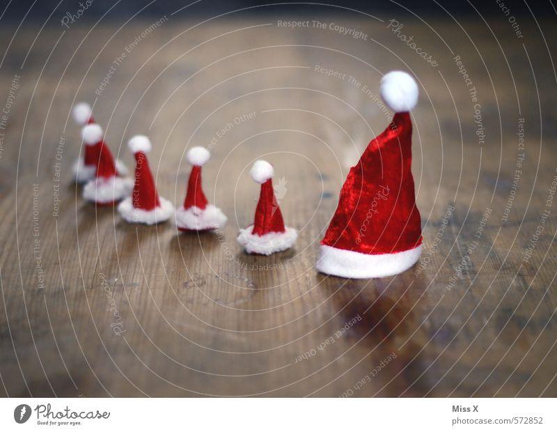 viele Läuse und ein Klaus Kind Weihnachten & Advent Erwachsene Leben Gefühle klein Kopf Menschengruppe Stimmung Familie & Verwandtschaft Dekoration & Verzierung