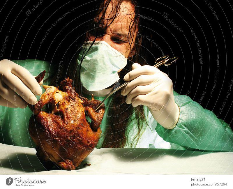 SCEPTIC. Angst Haushuhn Vorsicht Geflügel Hähnchen Fleisch Seuche