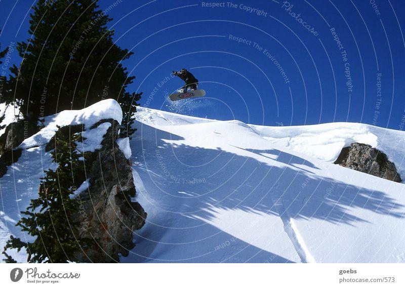 bigair02 Winter Berge u. Gebirge Schnee Sport springen Alpen Snowboarding Snowboarder Wintersport Air