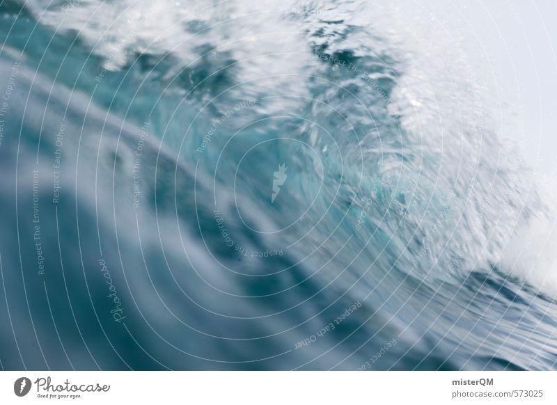 I.love.FV IV Kunst ästhetisch Zufriedenheit Wasser Wasseroberfläche Wassersport Wasserwirbel Wellen Meer Meerwasser Brandung Gischt weiß blau Surfen Spanien