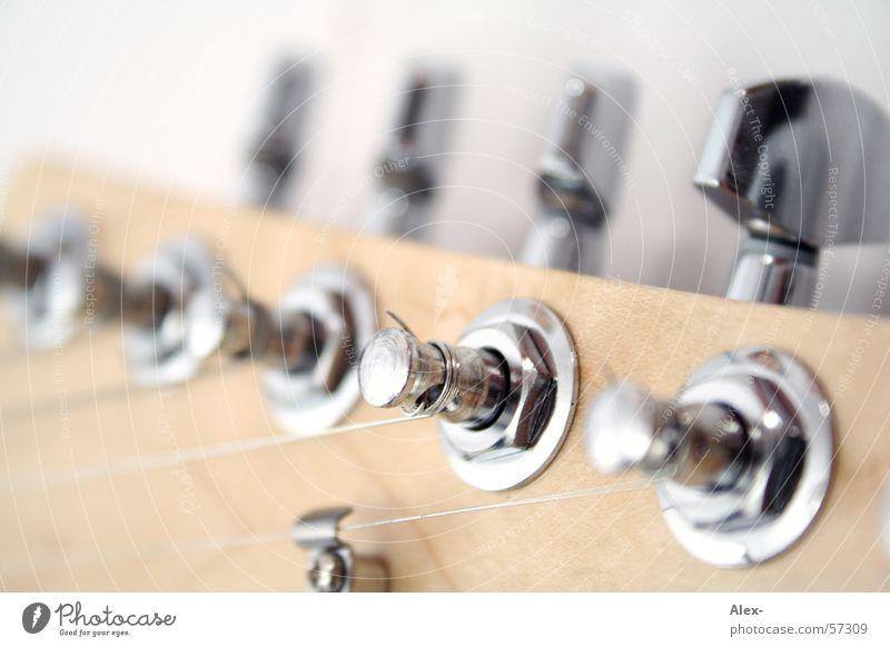 Klangschraube Elektrogitarre Holz Chrom laut Hardcore Gitarre Schraube Nähgarn Seite Metall Musikinstrument Geräusch Rockmusik Rock 'n' Roll Schnur