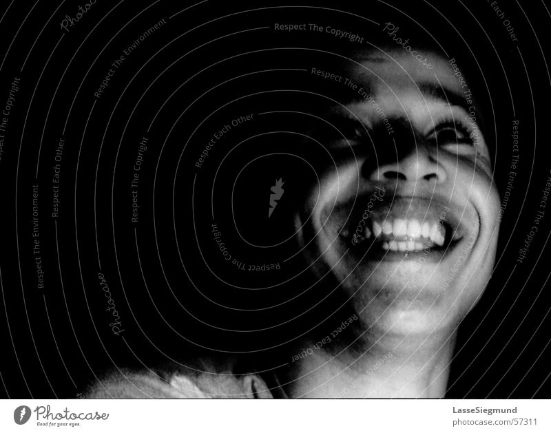 Simo schwarz weiß Freundlichkeit Hintergrundbild Marokko Afrika Gesicht lachen grinsen Schwarzweißfoto rollei 120er Freude marokaner Zähne