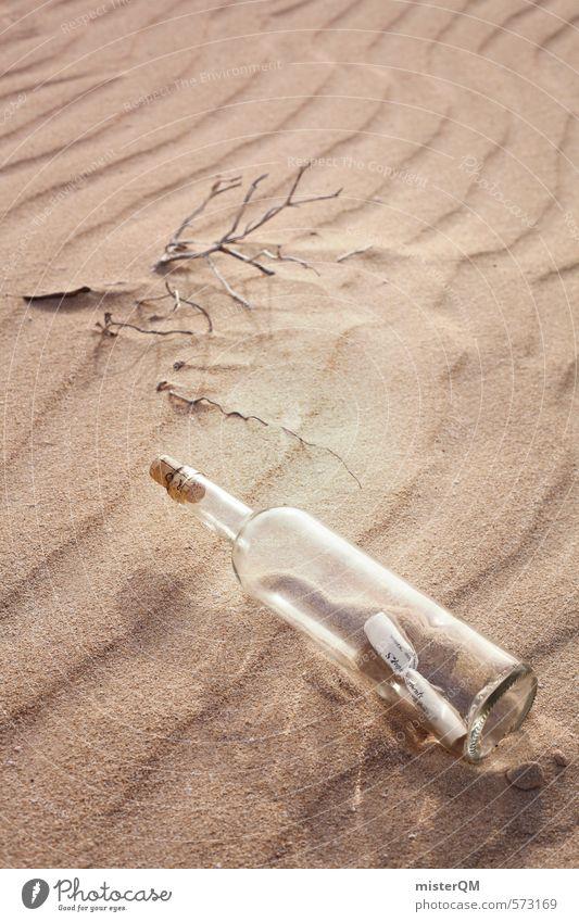 I.love.FV XVII Kunst ästhetisch Zufriedenheit Wüste Wüstenpflanze Einsamkeit Flasche Flaschenhals Flaschenboden Flaschenpost Information Romantik