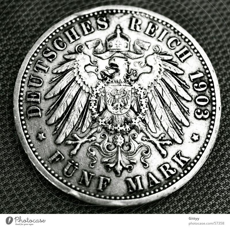 fünf Mark Deutschland Geld Bundesadler Vergangenheit Geldmünzen