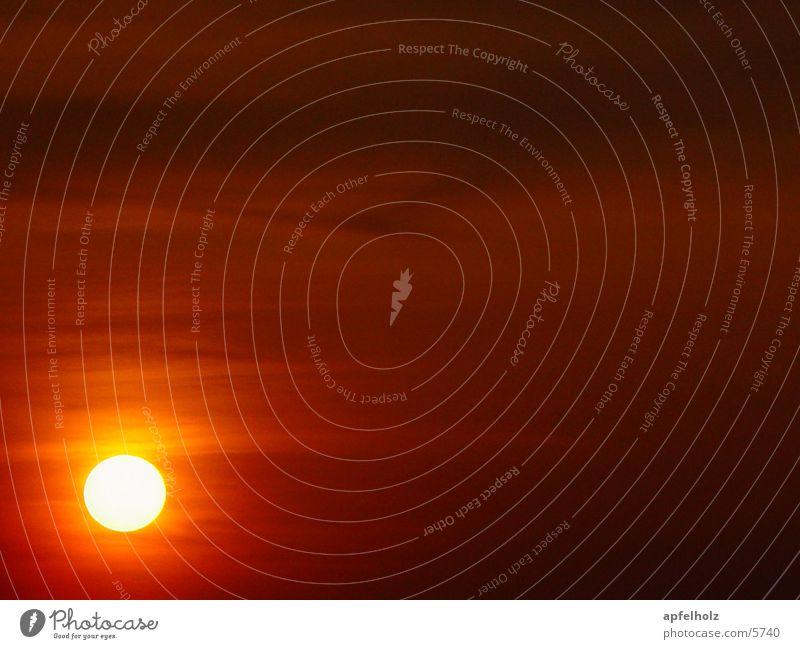 the sun Sonnenuntergang