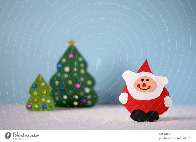 Lieber Weihnachtsmann... Mann Weihnachten & Advent blau grün rot Freude Winter Erwachsene Gefühle Schnee Feste & Feiern maskulin Zufriedenheit Fröhlichkeit Postkarte Tradition