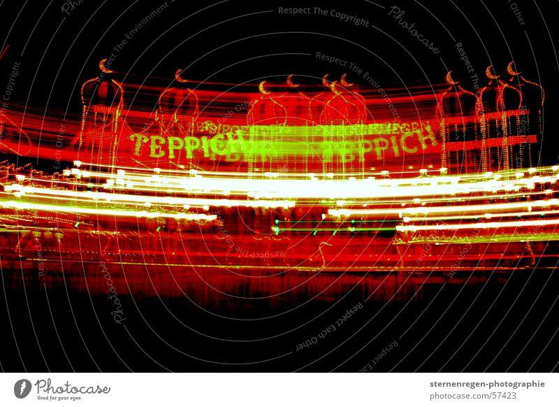 teppich? hell Jahrmarkt Achterbahn rot grün Naher und Mittlerer Osten langeitbelichtung r farbe karusell Kontrast Bewegung Mond