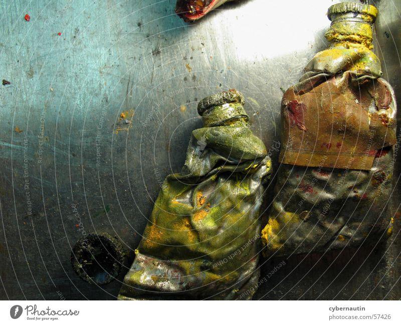 Ölfarben 2 gelb Metall Kunst streichen Staub Tube Atelier
