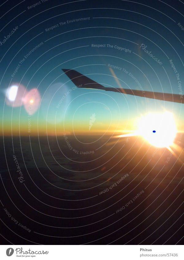 Sonnenaufgang Luftverkehr