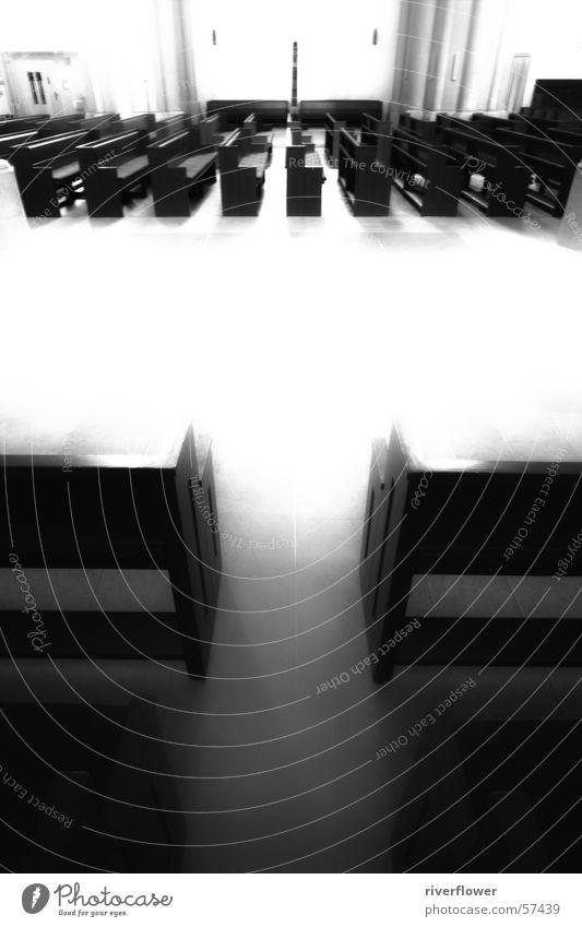 Marschierende Bänke Religion & Glaube Nebel Bank Lichtspiel unheimlich himmlisch dramatisch marschieren