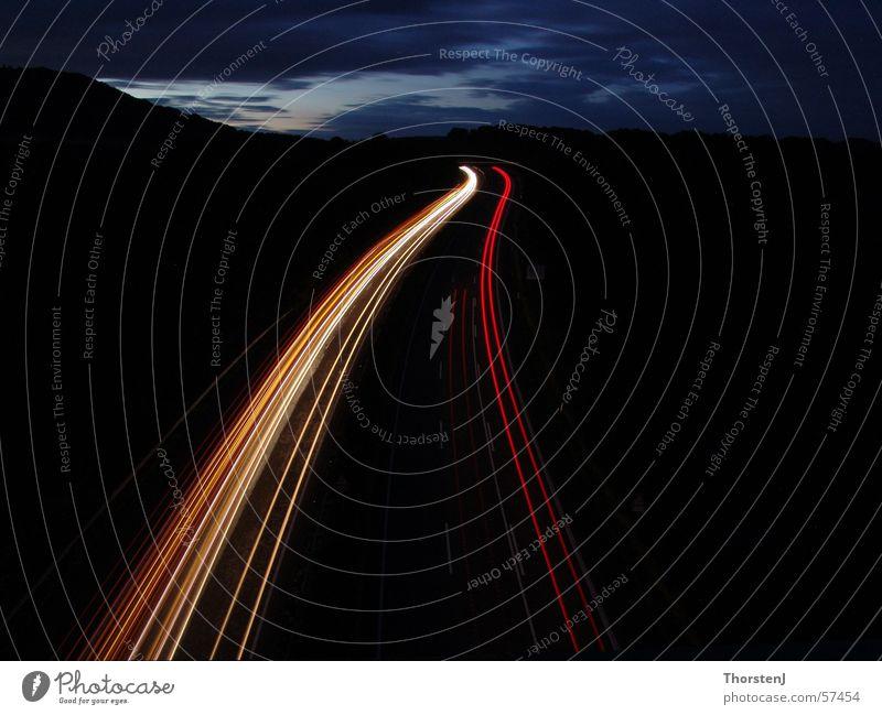 Autobahn bei Nacht Autobahn