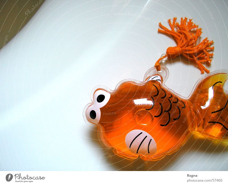 Plastik Wasser orange Fisch Bad Dekoration & Verzierung Sauberkeit rein Badewanne Gel Goldfisch Haarwaschmittel