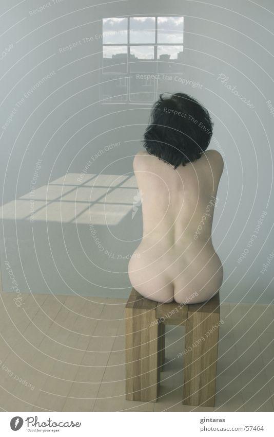massanfertigung Frau Erotik nackt Körper Rücken Akt Hinterteil Möbel Eiche