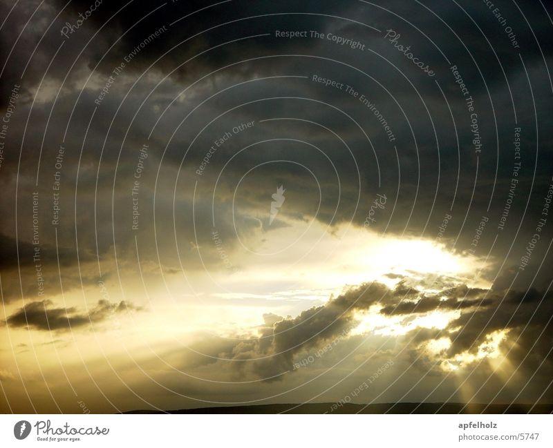donnerwolken Himmel Wolken Farbe Wetter Gewitter Unwetter Steinerner Wald