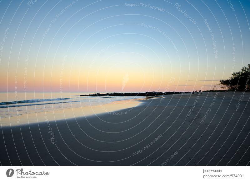 Bundaberg Landschaft Wolkenloser Himmel Küste Pazifikstrand Queensland exotisch Unendlichkeit natürlich Wärme Stimmung Horizont Idylle Optimismus Brandung