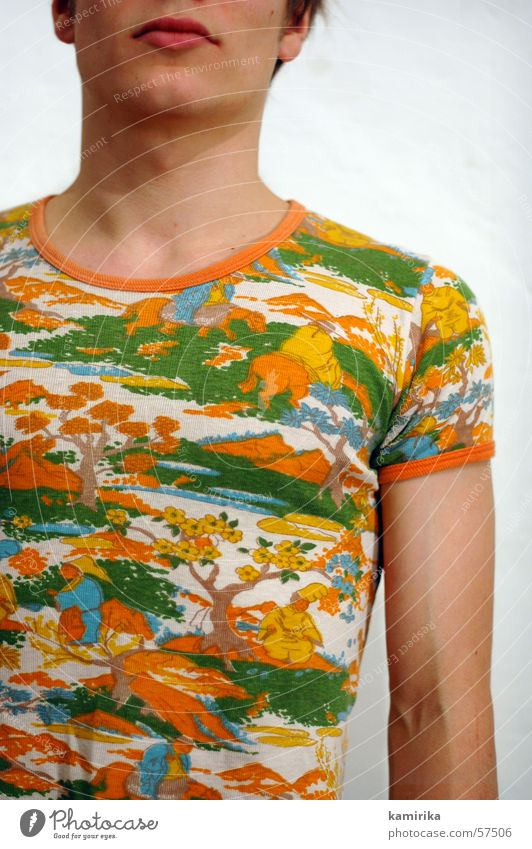 ohne tapete zwei Mann Wand Stil Mauer Mode Arme T-Shirt Hemd Tapete trendy Muskulatur Siebziger Jahre Seife Laufsteg