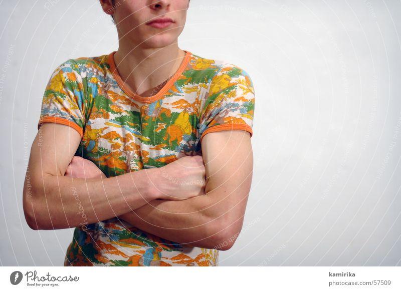 ohne tapete eins Mann Wand Stil Mauer Mode Arme T-Shirt Hemd Tapete trendy Muskulatur Siebziger Jahre Seife Laufsteg