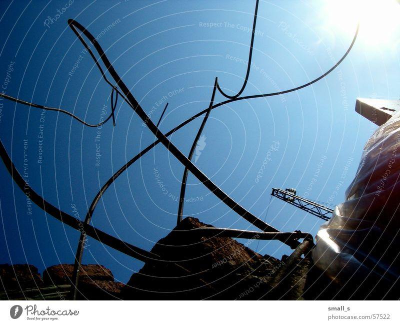 Sky-wire Blauer Himmel Licht trashig light sun industrial Nordpol