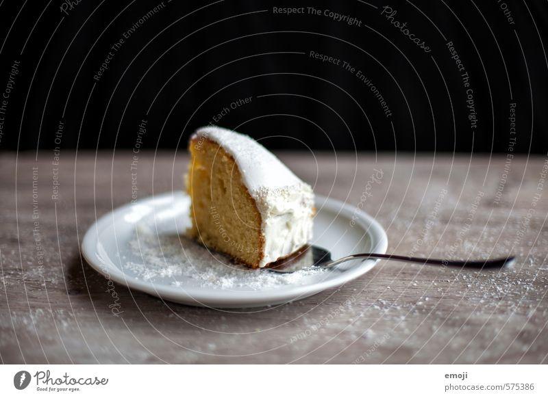 Sonntagssüss Kuchen Dessert Süßwaren Tortenstück Ernährung Teller lecker süß Kalorienreich Farbfoto Innenaufnahme Studioaufnahme Menschenleer Textfreiraum oben