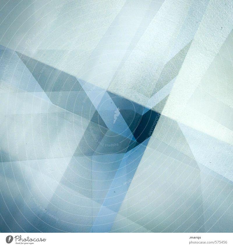 Surreal blau Farbe Innenarchitektur Stil Lifestyle Design elegant modern Perspektive verrückt einzigartig eckig Doppelbelichtung