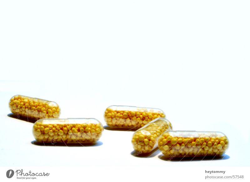 This bitter pills II weiß gelb Leben Gesundheit Kraft frisch Gesundheitswesen Hoffnung Kreativität Kugel Wohlgefühl Rauschmittel Medikament nehmen Mischung