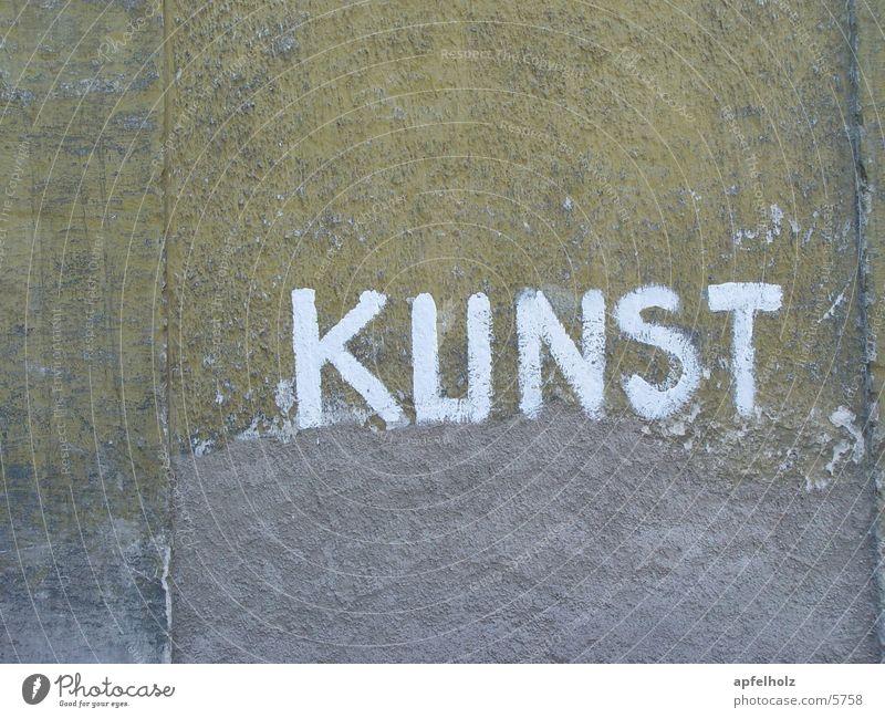 kunst Kunst Schriftzeichen alte mauer