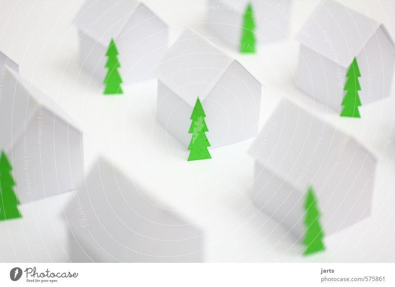 christmas in papercity Reichtum Haus Traumhaus Hausbau Weihnachten & Advent Winter Pflanze Baum Kleinstadt Menschenleer Einfamilienhaus einfach ruhig Leben