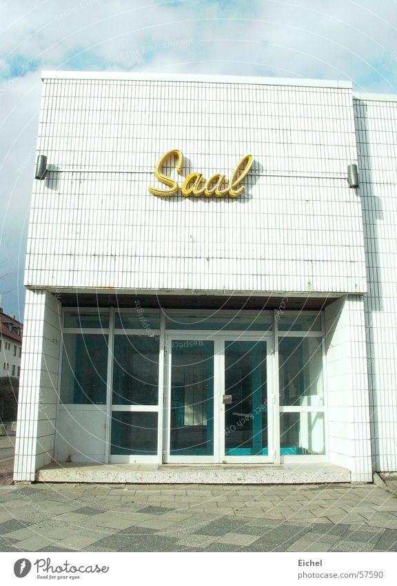 Eingang ging ein... Saal Tanzlokal Lokal Gebäude geschlossen leer Leuchtreklame Bremerhaven veraltet leerstehend