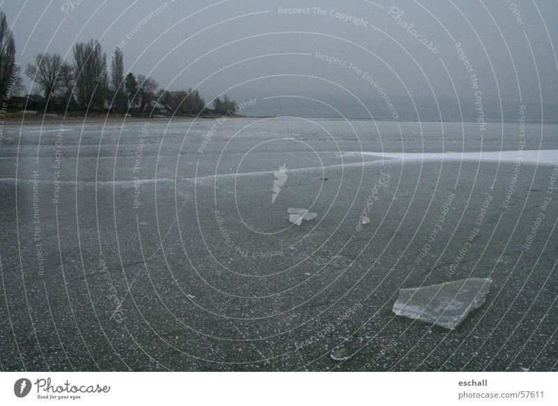 Seegfrörne Natur Winter Einsamkeit ruhig kalt grau Traurigkeit Horizont Eis Insel Frost Trauer gefroren Risiko Langeweile