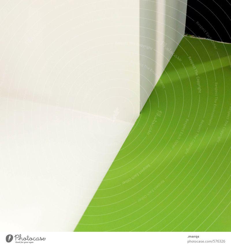 |/ Lifestyle Stil Design Innenarchitektur Architektur außergewöhnlich Coolness eckig trendy modern grün weiß Ordnung Perspektive Grafik u. Illustration