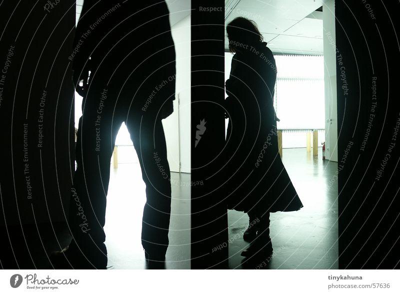 Silhouetten Gegenlicht zkm Museum Schatten