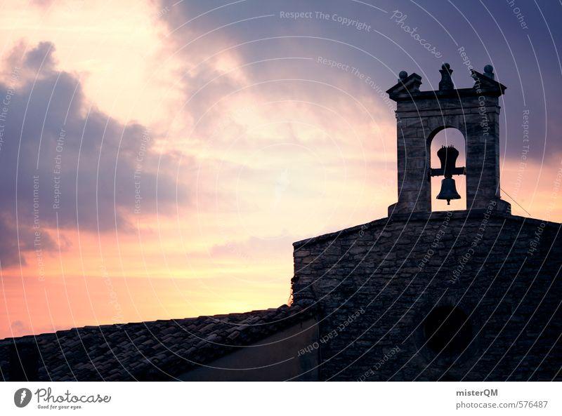 French Style XXXIX Wolken dunkel Mauer Religion & Glaube Kunst Zufriedenheit ästhetisch Kirche Hoffnung Romantik Frankreich Abenddämmerung Kirchturm Provence Kirchenglocke Kirchenstaat