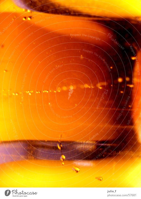 spuren gelb Luft Licht orange blasen Glas Wasser Spuren Flüssigkeit